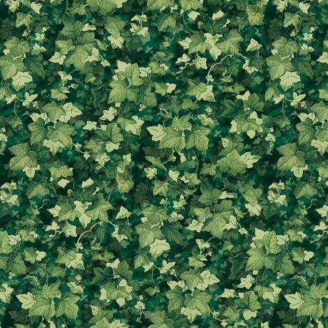 English Ivy ~ Lush ~ Doll Scale fabric by peacoquettedesigns on Spoonflower - custom fabric