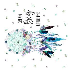 "18'x18"" Teal & Lilac Dream Catcher"