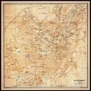 Stuttgart map, Germany FQ