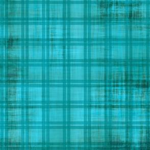 Grunge Plaid_ turquoise