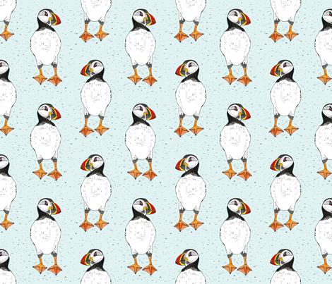 Puffins 6x6 fabric by leroyj on Spoonflower - custom fabric
