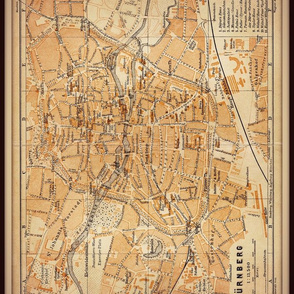 Nuremberg map, Germany small