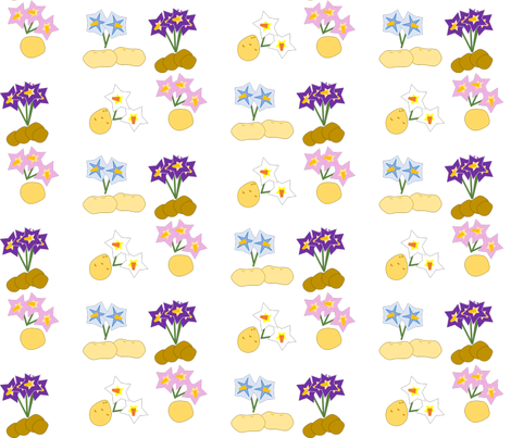 taters_n_flowers fabric by tri_tater on Spoonflower - custom fabric