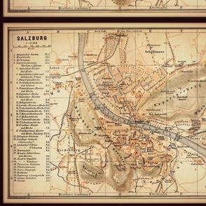Salzburg map, Austria small