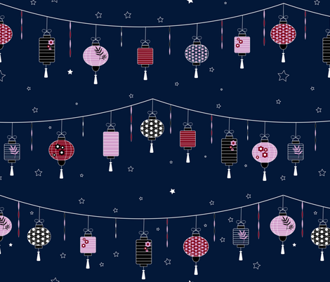 Lanterns fabric by meredith_watson on Spoonflower - custom fabric