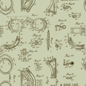 Steampunk safety goggles blueprint
