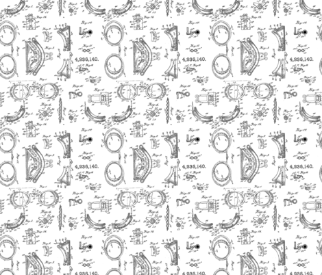 Steampunk safety goggles blueprint black and white micro print steampunk safety goggles blueprint black and white micro print fabric by b0rwear on spoonflower custom malvernweather Image collections