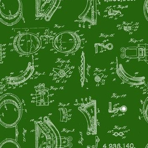 Steampunk safety goggle chalkboard micro print