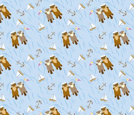 Otter Regatta fabric by jewelraider on Spoonflower - custom fabric