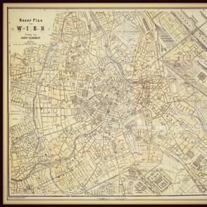 Vienna map,  Austria small