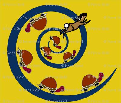 turt and rhei yeloow and blue