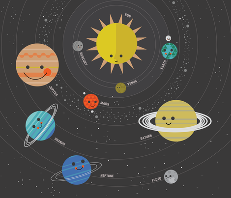 Solar System Play Mat -1 Yard fabric by bashfulbirdie on Spoonflower - custom fabric