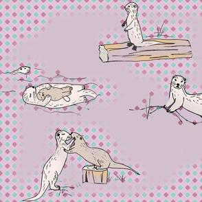 Pastel otters