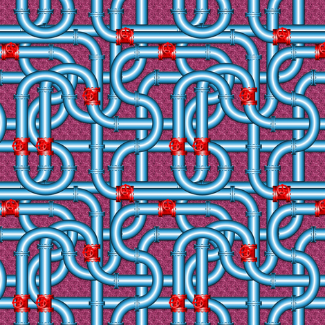 Plumbing Pipes Pattern 6 fabric by stradling_designs on Spoonflower - custom fabric