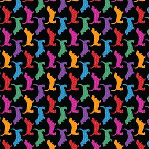 Rainbow Bassets (small rotated dark)