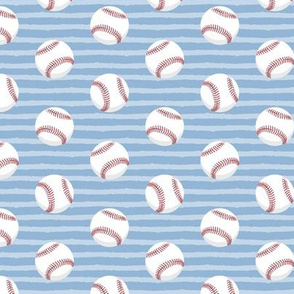 baseballs - light blue stripes