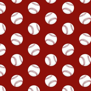 baseballs - dark red