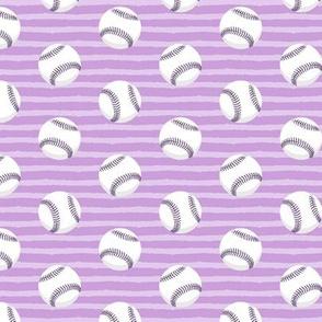 baseballs - purple stripes