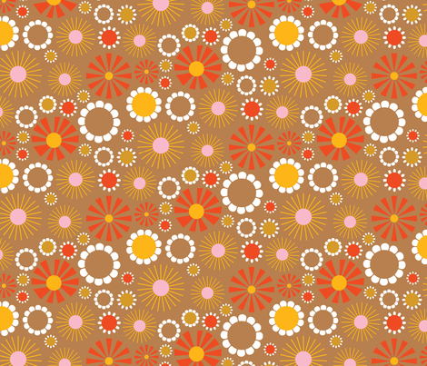 Flower Quilt Backing fabric by bashfulbirdie on Spoonflower - custom fabric