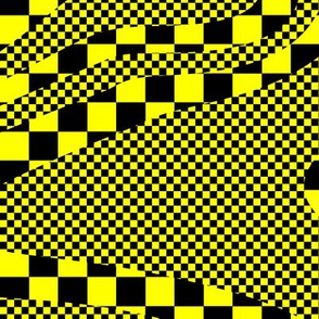 Yellow and Black Check