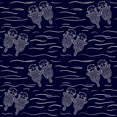 Otterly Devoted fabric by thewellingtonboot on Spoonflower - custom fabric