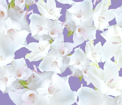 White gladiolus flower pattern fabric luchianasdaydreams white gladiolus flower pattern fabric by luchianasdaydreams on spoonflower custom fabric mightylinksfo