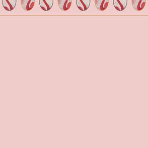 The royal pink Flamingo warm pink wallpaper