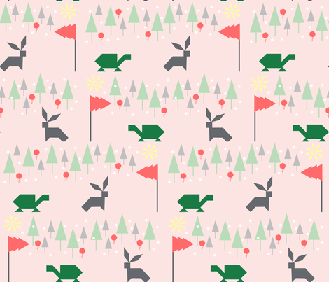 The Tortoise and The Hare fabric by gicalorandi on Spoonflower - custom fabric