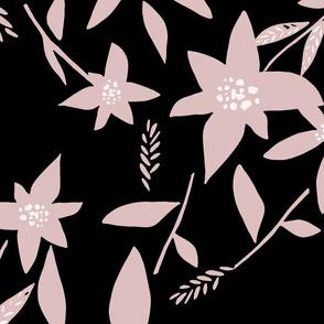 Minimal Flower Black