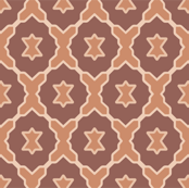 Boho Baby // Middle Eastern Metallic / Lattice Geometric Woodwork in Copper, Cream, & Burnt Umber