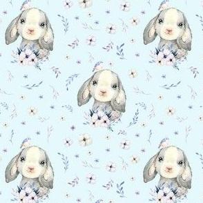"4"" Lilac Bunny - Blue"