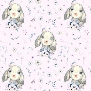 "4"" Lilac Bunny - Blush Pink"