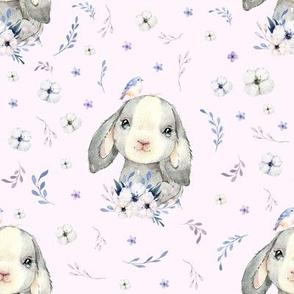 "8"" Lilac Bunny - Blush Pink"