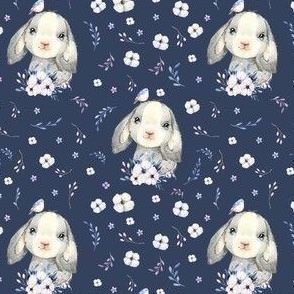 """4"""" Lilac Bunny - Dark Lavender"""