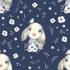 """8"""" Lilac Bunny - Dark Lavender"""