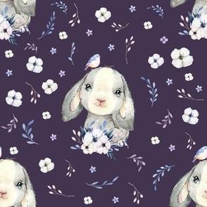 """8"""" Lilac Bunny - Violet"""