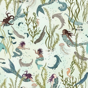 An Otter World - Otters and Mermaids