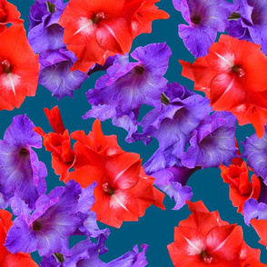 Ultraviolet & Red Gladiolus Pattern