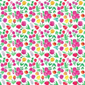 Bright Cheerful Abstract Floral