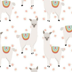 Llamas with Blush Stars