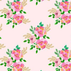 "4"" Lila the Mouse Florals - Mix & Match Pink"