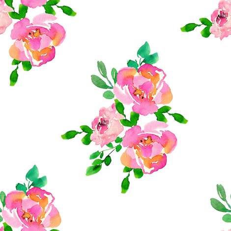"""8"""" Lila the Mouse Florals - Mix & Match No Gold fabric by shopcabin on Spoonflower - custom fabric"""