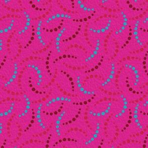 Roses Pink & Aqua - 4