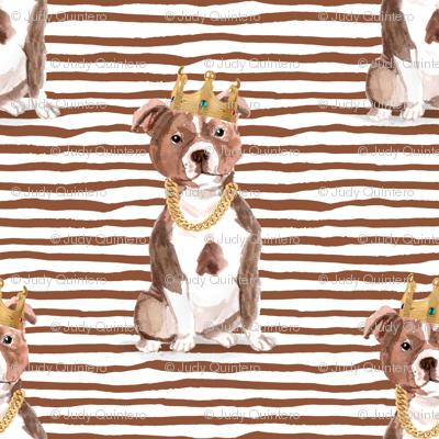 "1.5"" Big Poppa - Red Pitbull - Brown Stripes"