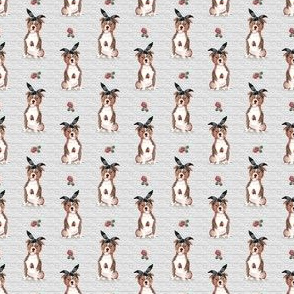 "1.5"" Pit Life - Red Pitbull - Grey Stripes Floral"