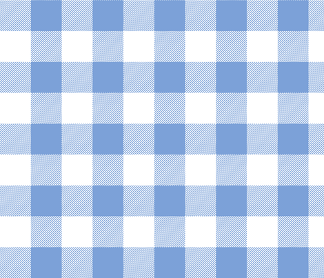 buffalo plaid 2in cornflower blue and white fabric by misstiina on Spoonflower - custom fabric