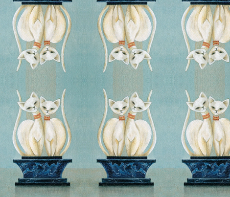 Deco cats fabric by stacy_studios on Spoonflower - custom fabric