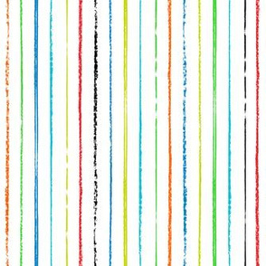 Passing Notes in Class // Hand Drawn Inky Marker Pen Stripes in Red, Orange, Lime, Green, Cyan, Blue, and Black