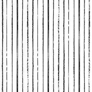 Passing Notes in Class // Hand Drawn Inky Marker Pen Stripes in Black and White