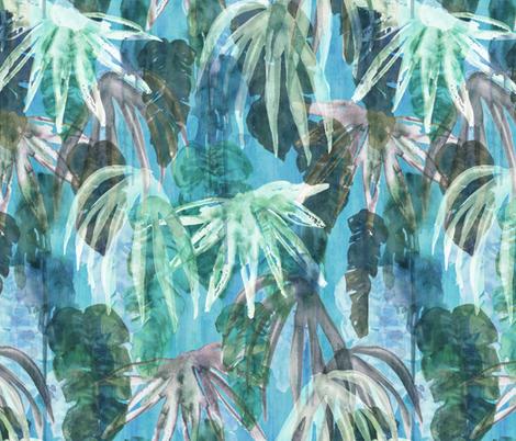 lindsey tropical aqua fabric by schatzibrown on Spoonflower - custom fabric